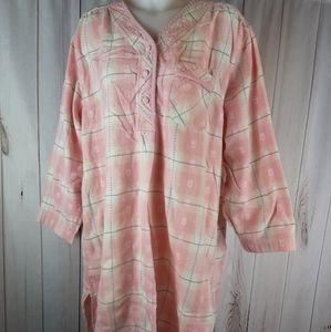 Victoria Secret Country Cottons L Sleep Shirt Pink